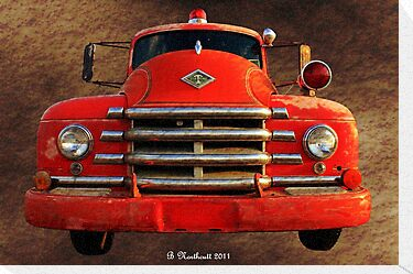1955 Diamond T Grille - The Cadillac Of Trucks by Betty Northcutt