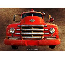 1955 Diamond T Grille - The Cadillac Of Trucks Photographic Print