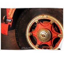 1955 Diamond T Wheel - The Proud Hubcap Poster