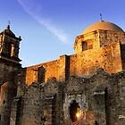 Mission San Jose as the sun goes down by Shiva77