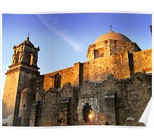 Mission San Jose as the sun goes down Poster