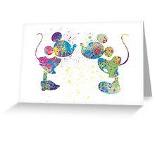 Watercolour kiss Greeting Card