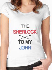 The Sherlock To My John Women's Fitted Scoop T-Shirt