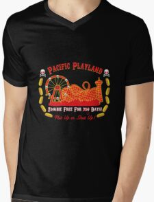 Pacific Playland- Zombie Free Mens V-Neck T-Shirt