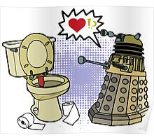 doctor who dalek love Poster
