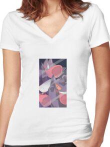 Pokemon Gastly Trio Women's Fitted V-Neck T-Shirt
