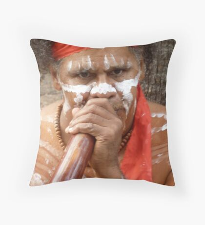 Busking Throw Pillow