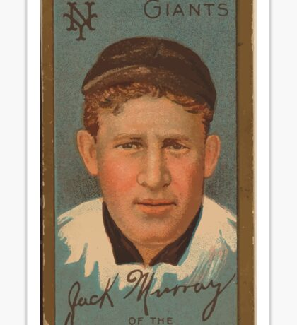 Benjamin K Edwards Collection John J Murray New York Giants baseball card portrait Sticker