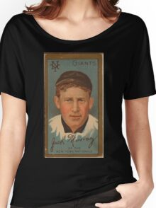 Benjamin K Edwards Collection John J Murray New York Giants baseball card portrait Women's Relaxed Fit T-Shirt