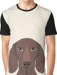Piper - Dachshund, weener dog, wiener dog, pet portrait, sausage dog, pet Graphic T-Shirt
