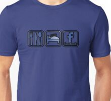 Eat. Sleep. Facebook. Unisex T-Shirt