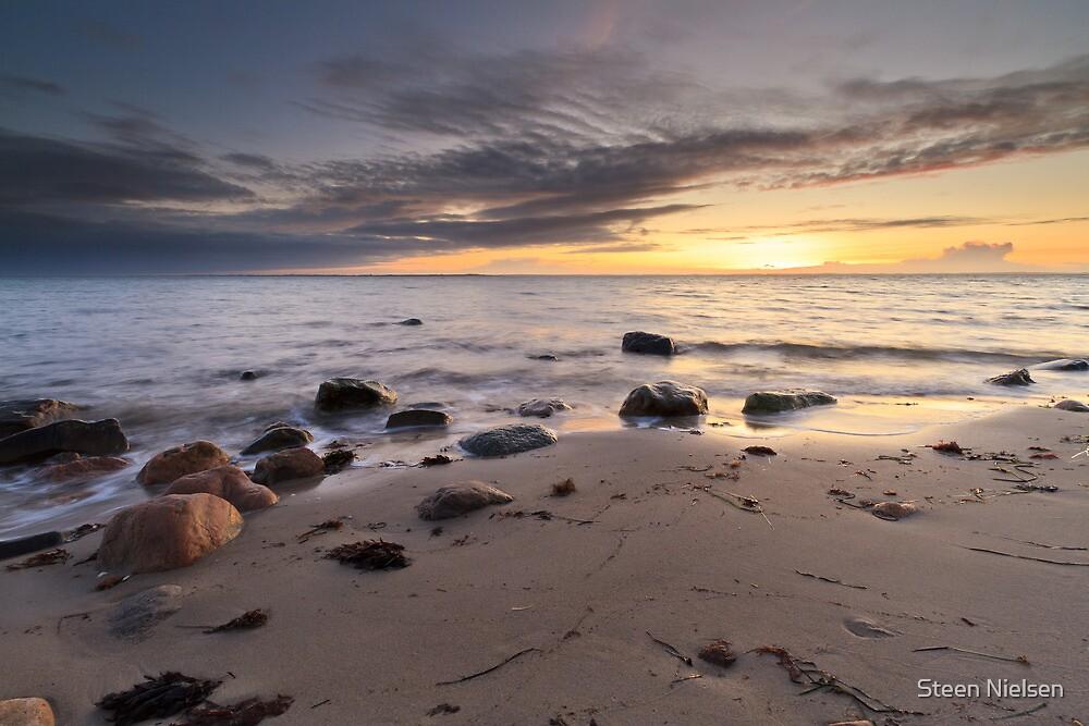 Winter sunset by Steen Nielsen