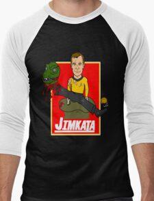 JIMKATA Men's Baseball ¾ T-Shirt