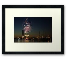 New Year's Eve 2011 at Docklands I Framed Print