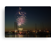 New Year's Eve 2011 at Docklands I Canvas Print