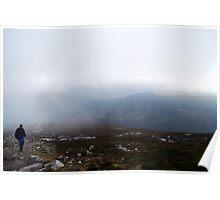 Schiehallion, a foggy view. Poster