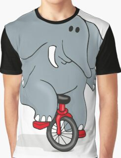 Cyclists Elephant Graphic T-Shirt