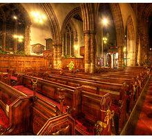 Loughborough Church Pews Photographic Print