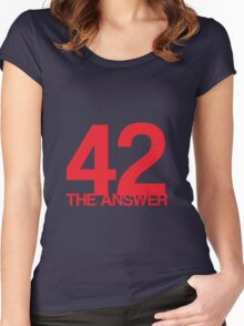 The Answer Women's Fitted Scoop T-Shirt
