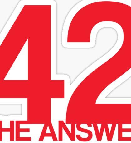 The Answer Sticker