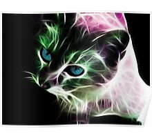 Psychedelic  Kitty Poster