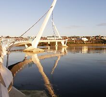 Peace Bridge , Over The River Foyle, Derry,Ireland by mikequigley