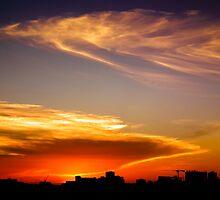 Sydney's First Sunset of 2012 by kutayk