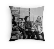 Three Generations in Waiting Throw Pillow