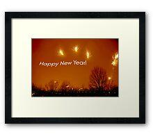 Happy New Year - Fireworks !  Framed Print