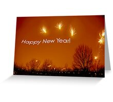 Happy New Year - Fireworks !  Greeting Card