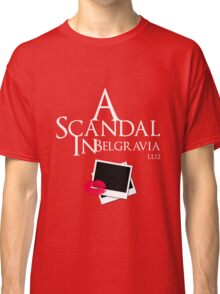 A Scandal In Belgravia (White) Classic T-Shirt
