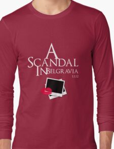 A Scandal In Belgravia (White) Long Sleeve T-Shirt