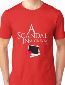 A Scandal In Belgravia (White) Unisex T-Shirt