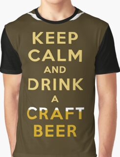 KEEP CALM - CRAFT BEER W/STACHE Graphic T-Shirt