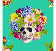 Skull and Flowers. Los Muertos Photographic Print