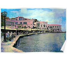 The Venetian Port of Chania Poster