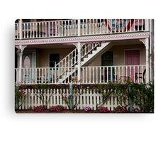 Decks, Railings And Stairs Canvas Print