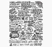 You Me At Six Lyrics Tee (White)
