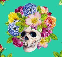 Skull and Flowers. Los Muertos by ramarama