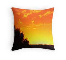 As the sun sets on 1 Jan 2012... Throw Pillow
