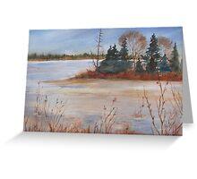 Island Lake, Orangeville, Ontario, Canada Greeting Card