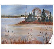 Island Lake, Orangeville, Ontario, Canada Poster