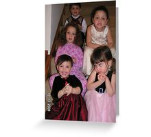 Group photo of cousins on the stairs. Greeting Card