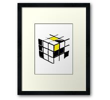 Rubik Cube Yellow Framed Print