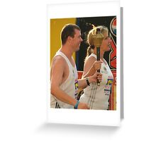 Olympic flame....... Greeting Card