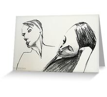 two faces in the drawing room Greeting Card
