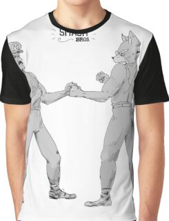 Old Timey Smash Bros Graphic T-Shirt