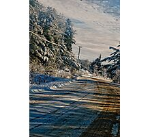 On A Cold Winters Drive Photographic Print