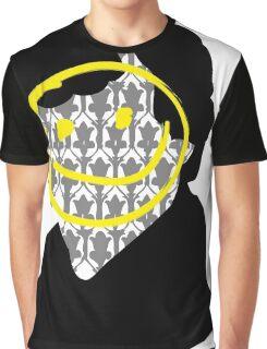 Sherlock Smiley Face Graphic T-Shirt