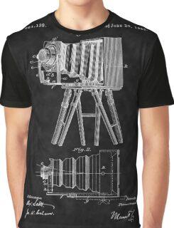 1885 View Camera Patent Art-BK Graphic T-Shirt